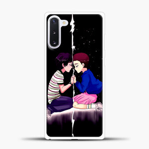 Stranger Things Eleven Black Samsung Galaxy Note 10 Case, White Plastic Case | casedilegna.com