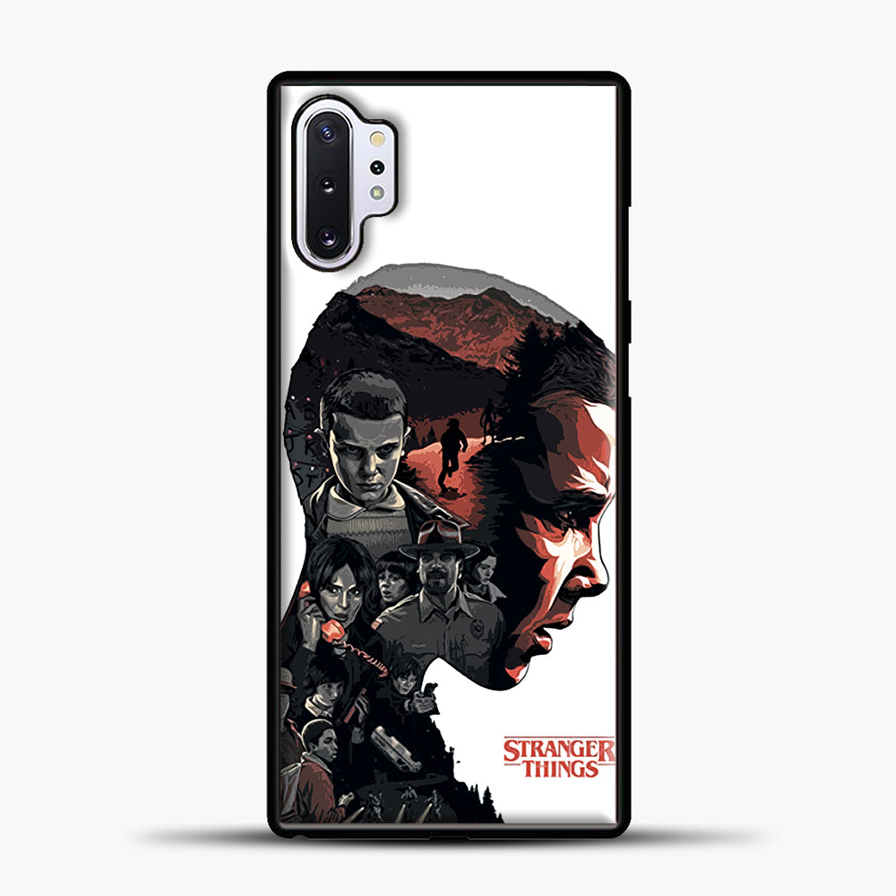 Stranger Things Eleven Face Samsung Galaxy Note 10 Plus Case, Black Plastic Case | casedilegna.com