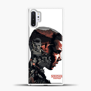 Stranger Things Eleven Face Samsung Galaxy Note 10 Plus Case, White Plastic Case | casedilegna.com