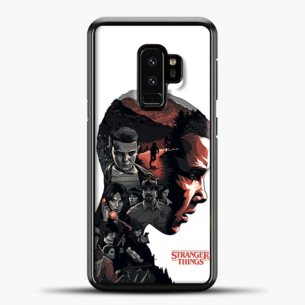 Stranger Things Eleven Face Samsung Galaxy S9 Case, Black Plastic Case | casedilegna.com