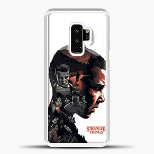 Stranger Things Eleven Face Samsung Galaxy S9 Case, White Plastic Case | casedilegna.com