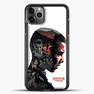 Stranger Things Eleven Face iPhone 11 Pro Max Case, Black Plastic Case | casedilegna.com