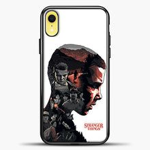 Load image into Gallery viewer, Stranger Things Eleven Face iPhone XR Case, Black Plastic Case | casedilegna.com