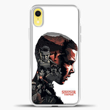 Load image into Gallery viewer, Stranger Things Eleven Face iPhone XR Case, White Plastic Case | casedilegna.com