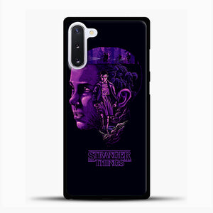Stranger Things Eleven Purple Samsung Galaxy Note 10 Case, Black Plastic Case | casedilegna.com