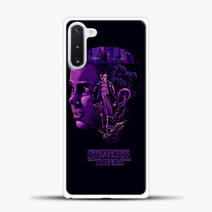 Stranger Things Eleven Purple Samsung Galaxy Note 10 Case, White Plastic Case | casedilegna.com
