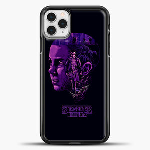 Stranger Things Eleven Purple iPhone 11 Pro Case, Black Plastic Case | casedilegna.com