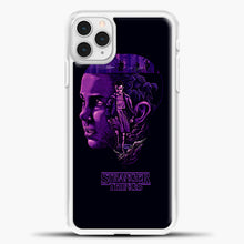 Load image into Gallery viewer, Stranger Things Eleven Purple iPhone 11 Pro Case, White Plastic Case | casedilegna.com