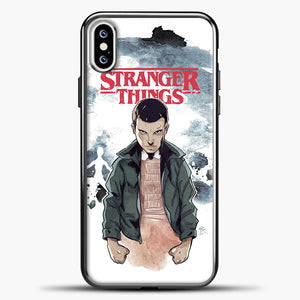 Stranger Things Eleven iPhone XS Case, Black Plastic Case | casedilegna.com