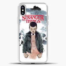 Load image into Gallery viewer, Stranger Things Eleven iPhone XS Case, White Plastic Case | casedilegna.com