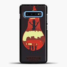 Load image into Gallery viewer, Stranger Things Lamp Red Samsung Galaxy S10 Case, Black Plastic Case | casedilegna.com