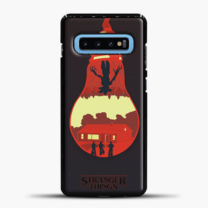 Stranger Things Lamp Red Samsung Galaxy S10 Case, Black Plastic Case | casedilegna.com