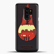 Load image into Gallery viewer, Stranger Things Lamp Red Samsung Galaxy S9 Plus Case, Black Plastic Case | casedilegna.com