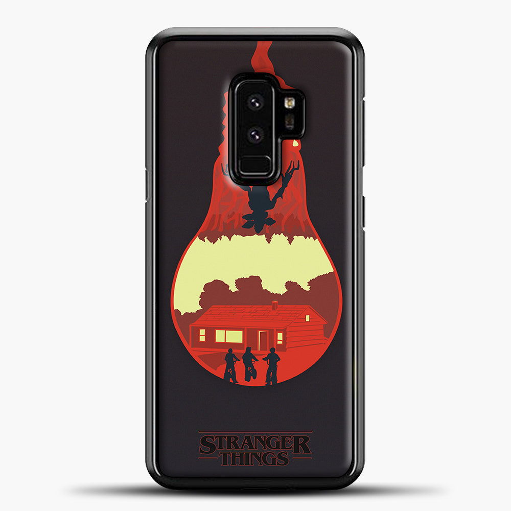 Stranger Things Lamp Red Samsung Galaxy S9 Plus Case, Black Plastic Case | casedilegna.com