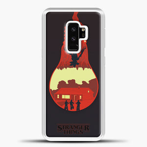 Stranger Things Lamp Red Samsung Galaxy S9 Plus Case, White Plastic Case | casedilegna.com