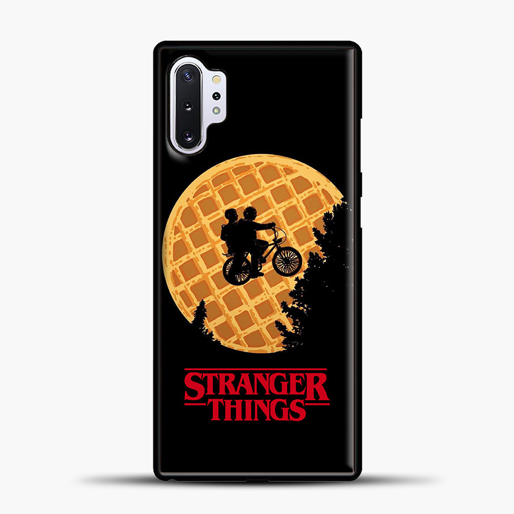 Stranger Things Moon Waffle Samsung Galaxy Note 10 Plus Case, Black Plastic Case | casedilegna.com