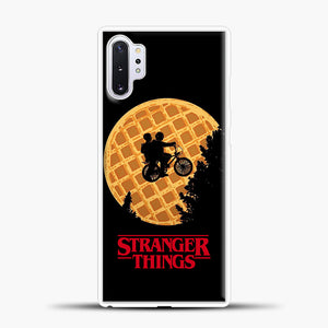 Stranger Things Moon Waffle Samsung Galaxy Note 10 Plus Case, White Plastic Case | casedilegna.com