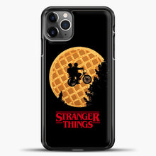 Load image into Gallery viewer, Stranger Things Moon Waffle iPhone 11 Pro Max Case, Black Plastic Case | casedilegna.com
