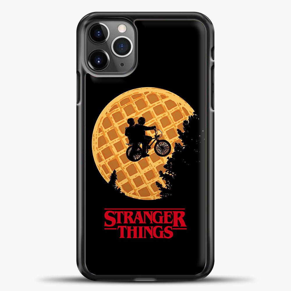 Stranger Things Moon Waffle iPhone 11 Pro Max Case, Black Plastic Case | casedilegna.com