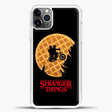 Load image into Gallery viewer, Stranger Things Moon Waffle iPhone 11 Pro Max Case, White Plastic Case | casedilegna.com