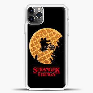 Stranger Things Moon Waffle iPhone 11 Pro Max Case, White Plastic Case | casedilegna.com