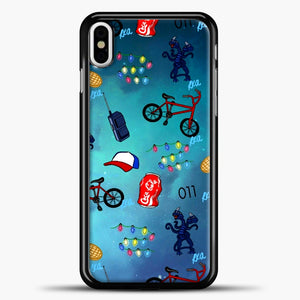 Stranger Things Pattern iPhone X Case, Black Plastic Case | casedilegna.com
