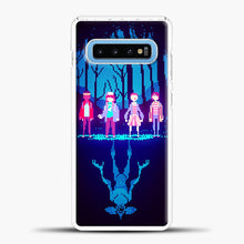 Load image into Gallery viewer, Stranger Things Pixel Samsung Galaxy S10 Case, White Plastic Case | casedilegna.com