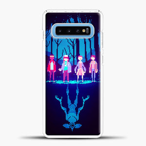 Stranger Things Pixel Samsung Galaxy S10 Case, White Plastic Case | casedilegna.com