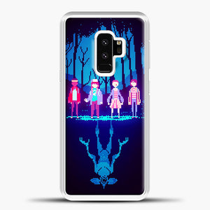 Stranger Things Pixel Samsung Galaxy S9 Case, White Plastic Case | casedilegna.com