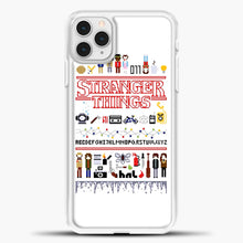 Load image into Gallery viewer, Stranger Things Pixel White iPhone 11 Pro Case, White Plastic Case | casedilegna.com