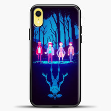 Load image into Gallery viewer, Stranger Things Pixel iPhone XR Case, Black Plastic Case | casedilegna.com