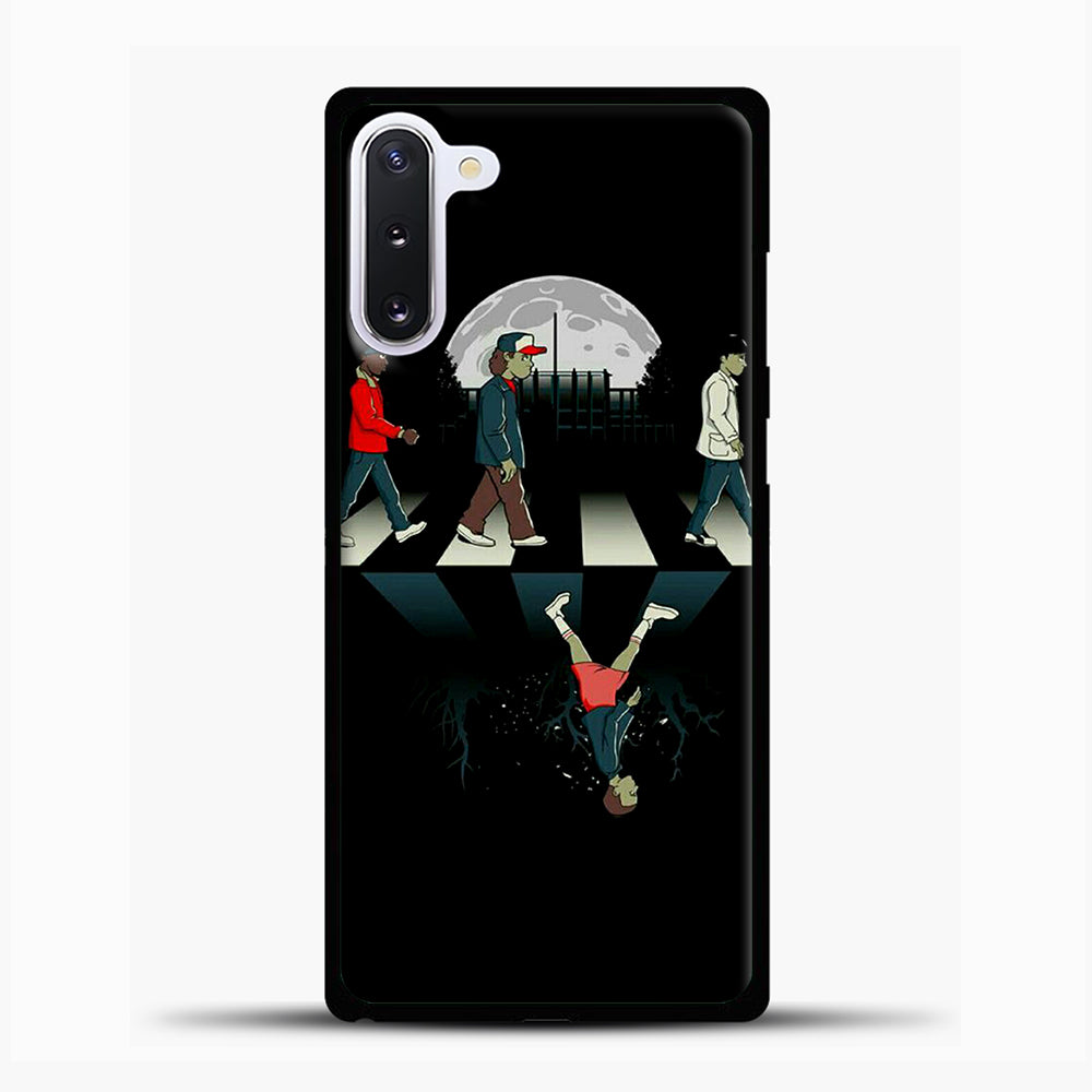 Stranger Things Road Black Samsung Galaxy Note 10 Case, Black Plastic Case | casedilegna.com