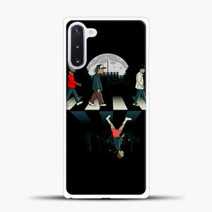 Stranger Things Road Black Samsung Galaxy Note 10 Case, White Plastic Case | casedilegna.com