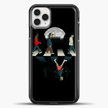 Load image into Gallery viewer, Stranger Things Road Black iPhone 11 Pro Case, Black Plastic Case | casedilegna.com