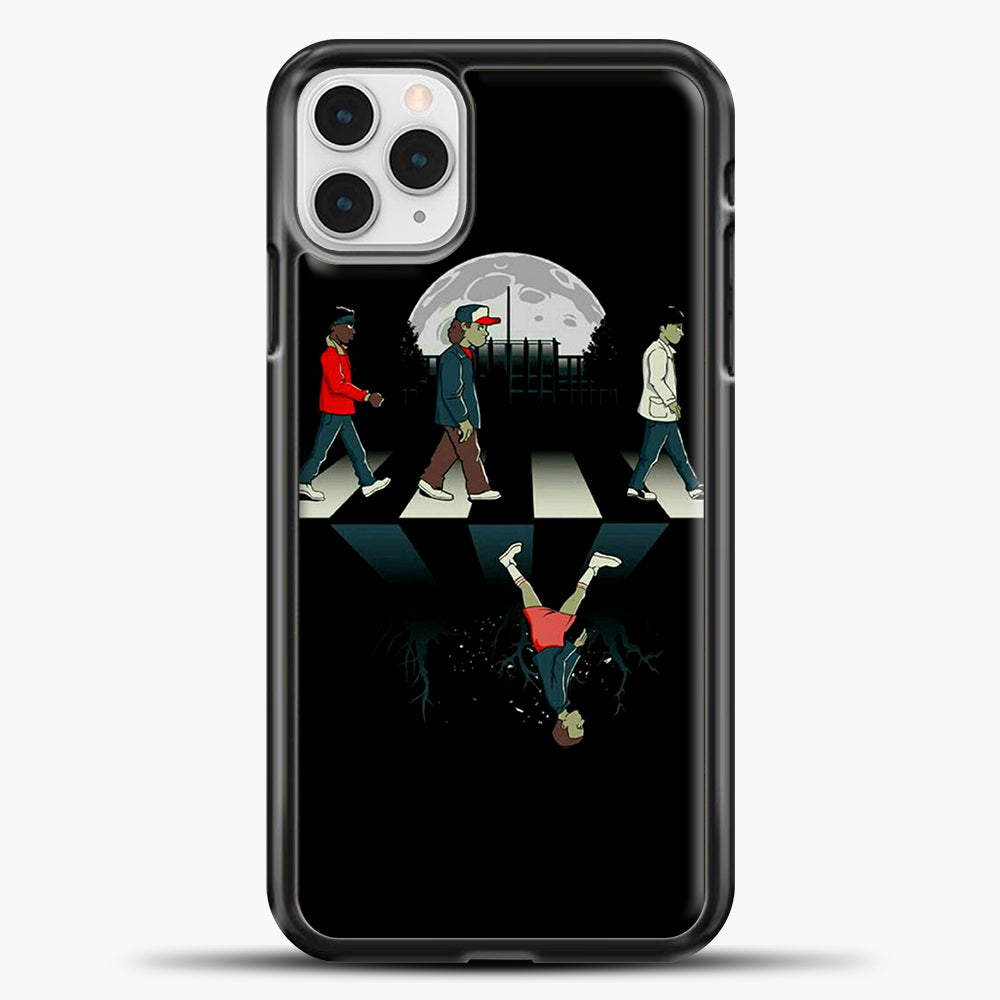 Stranger Things Road Black iPhone 11 Pro Case, Black Plastic Case | casedilegna.com