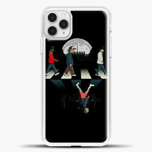 Stranger Things Road Black iPhone 11 Pro Case, White Plastic Case | casedilegna.com