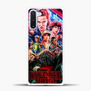 Stranger Things Starcourt Samsung Galaxy Note 10 Case, White Plastic Case | casedilegna.com