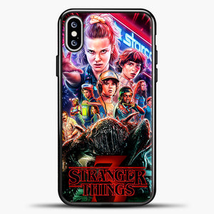 Stranger Things Starcourt iPhone XS Max Case, Black Plastic Case | casedilegna.com