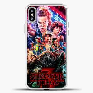Stranger Things Starcourt iPhone XS Max Case, White Plastic Case | casedilegna.com