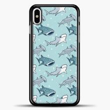 Load image into Gallery viewer, Shark Pattern iPhone Case, Black Plastic Case | casedilegna.com