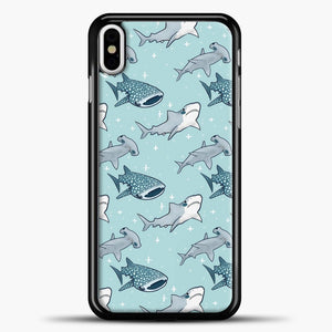 Shark Pattern iPhone Case, Black Plastic Case | casedilegna.com