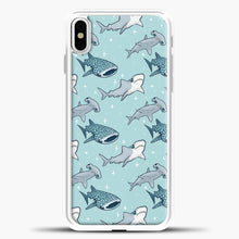 Load image into Gallery viewer, Shark Pattern iPhone Case, White Plastic Case | casedilegna.com