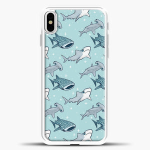 Shark Pattern iPhone Case, White Plastic Case | casedilegna.com