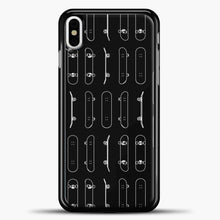 Load image into Gallery viewer, Skateboard Rows White Lines iPhone Case, Black Plastic Case | casedilegna.com