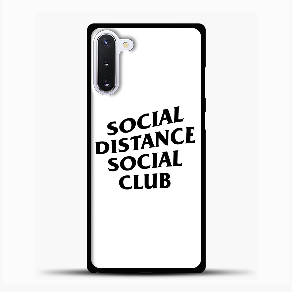 Sosial Distance Club Samsung Galaxy Note 10 Case, Black Plastic Case | casedilegna.com