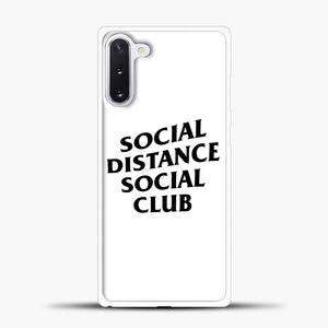 Sosial Distance Club Samsung Galaxy Note 10 Case, White Plastic Case | casedilegna.com