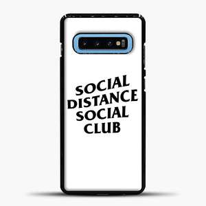 Sosial Distance Club Samsung Galaxy S10 Case, Black Plastic Case | casedilegna.com