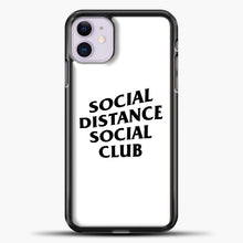 Load image into Gallery viewer, Sosial Distance Club iPhone 11 Case, Black Plastic Case | casedilegna.com