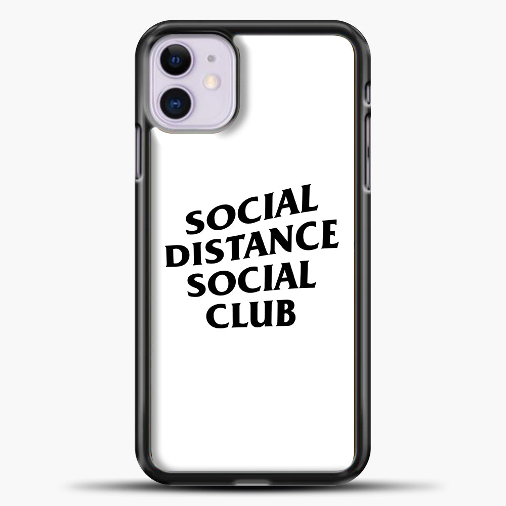 Sosial Distance Club iPhone 11 Case, Black Plastic Case | casedilegna.com