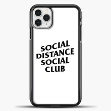 Load image into Gallery viewer, Sosial Distance Club iPhone 11 Pro Case, Black Plastic Case | casedilegna.com